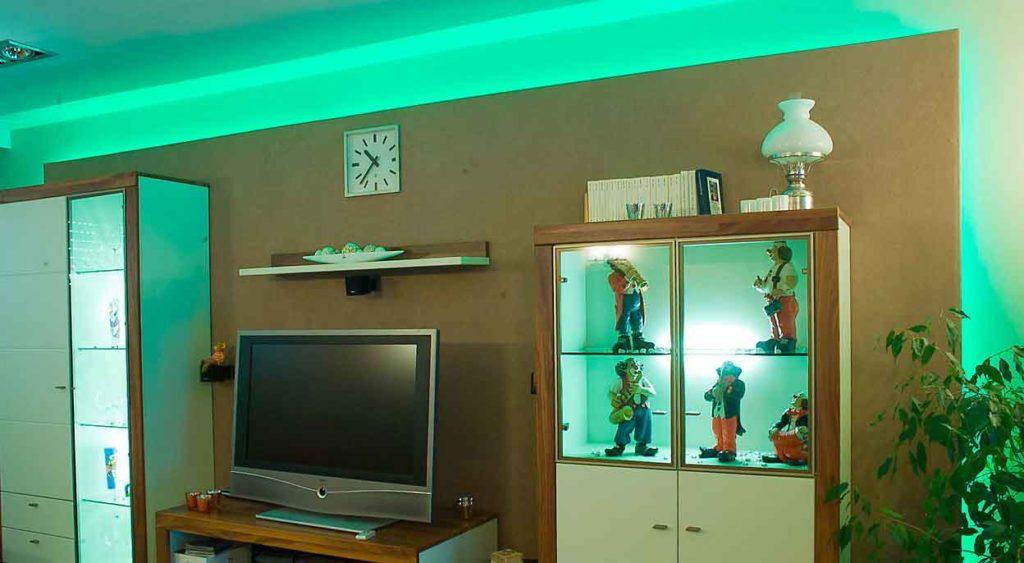 Beleuchtung Lichtwechsel grün